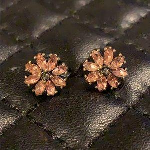 Anthropology Antiqued Diamond Flower Earring